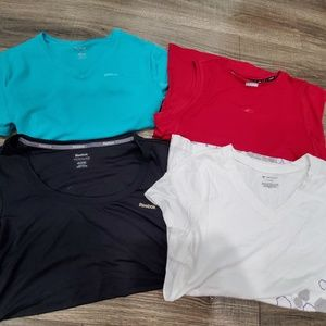 4 workout shirts reebok tekgear